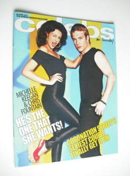 Celebs magazine - Michelle Keegan and Chris Fountain cover (8 April 2012)