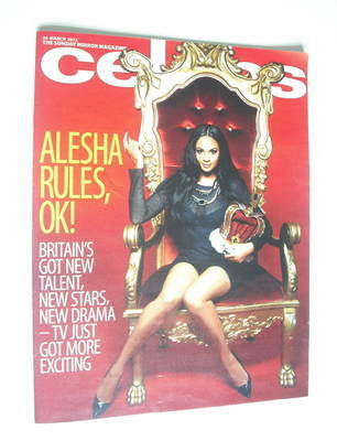 <!--2012-03-25-->Celebs magazine - Alesha Dixon cover (25 March 2012)