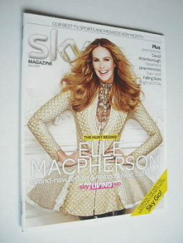 Sky TV magazine - July 2011 - Elle Macpherson cover