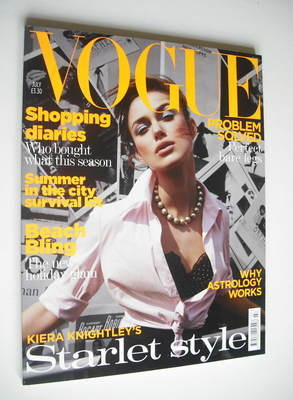 <!--2004-07-->British Vogue magazine - July 2004 - Keira Knightley cover