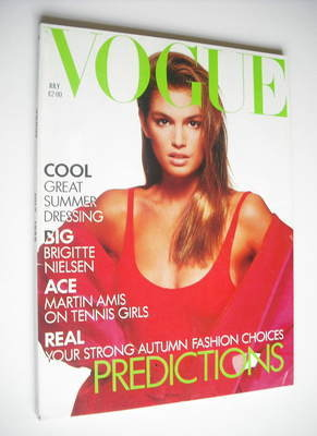 <!--1988-07-->British Vogue magazine - July 1988 - Cindy Crawford cover