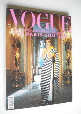 <!--1990-04-->British Vogue magazine - April 1990 - Tatjana Patitz cover