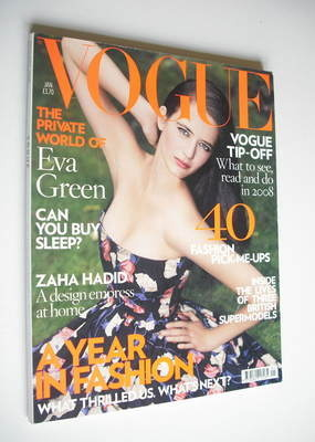 <!--2008-01-->British Vogue magazine - January 2008 - Eva Green cover