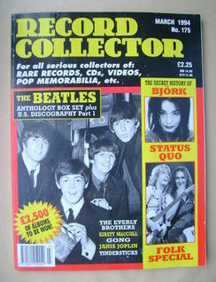 Record Collector - The Beatles cover (March 1994 - Issue 175)