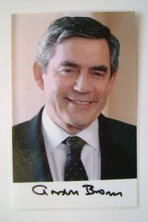 Gordon Brown autograph