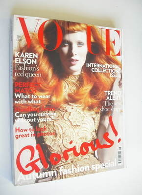 <!--2008-09-->British Vogue magazine - September 2008 - Karen Elson cover