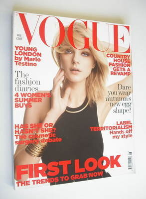 <!--2006-08-->British Vogue magazine - August 2006 - Jessica Stam cover