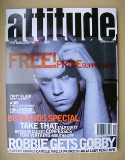 Attitude magazine - Robbie Williams cover (June 1995 - Issue 14)