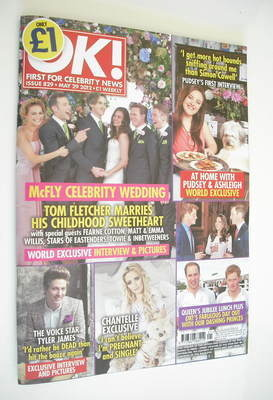 <!--2012-05-29-->OK! magazine - Tom Fletcher wedding cover (29 May 2012 - I