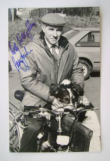 Barry Jackson autograph (hand-signed photograph, dedicated)