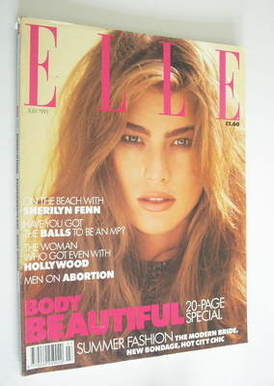 <!--1991-07-->British Elle magazine - July 1991 - Megan Douglas cover