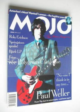 <!--1995-06-->MOJO magazine - Paul Weller cover (June 1995 - Issue 19)