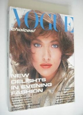 <!--1985-10-->British Vogue magazine - October 1985 - Tatjana Patitz cover