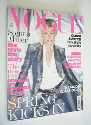 <!--2006-02-->British Vogue magazine - February 2006 - Sienna Miller cover