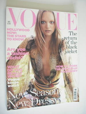 <!--2005-08-->British Vogue magazine - August 2005 - Gemma Ward cover