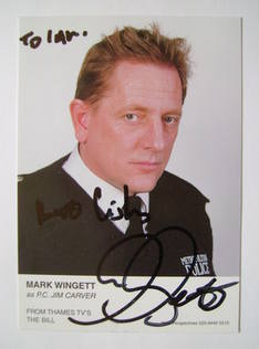 Mark Wingett autographed photo (ex The Bill actor)