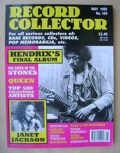 Record Collector - Jimi Hendrix cover (May 1995 - Issue 189)