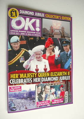 <!--2012-06-12-->OK! magazine - Queen Elizabeth II Diamond Jubilee cover (1