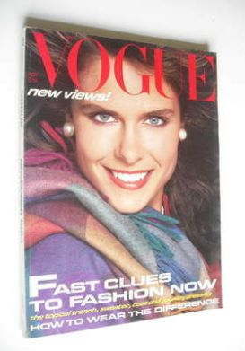 <!--1983-11-->British Vogue magazine - November 1983 (Vintage Issue)