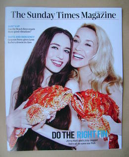 <!--2012-06-03-->The Sunday Times magazine - Lizzy Jagger and Jerry Hall co