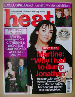 <!--2000-12-02-->Heat magazine - Martine McCutcheon cover (2-8 December 200