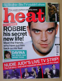 <!--2000-10-21-->Heat magazine - Robbie Williams cover (21-27 October 2000