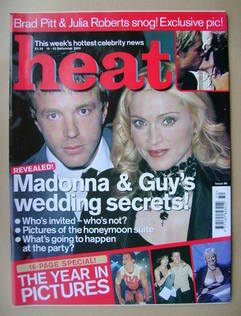 <!--2000-12-16-->Heat magazine - Guy Ritchie and Madonna cover (16-22 Decem