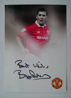 Bryan Robson autographed photo