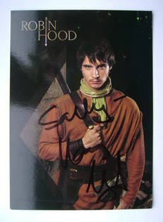 Harry Lloyd autograph (hand-signed cast card, dedicated)
