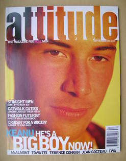 Attitude magazine - Keanu Reeves cover (September 1995 - Issue 17)