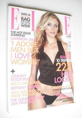 <!--2003-02-->British Elle magazine - February 2003 - Cameron Diaz cover