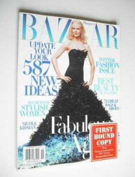 Harper's Bazaar magazine - November 2004 - Nicole Kidman cover