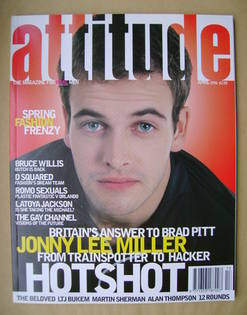 Attitude magazine - Jonny Lee Miller cover (April 1996 - Issue 24)
