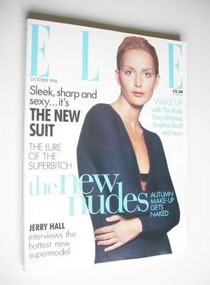 <!--1996-10-->British Elle magazine - October 1996 - Georgina Grenville cov