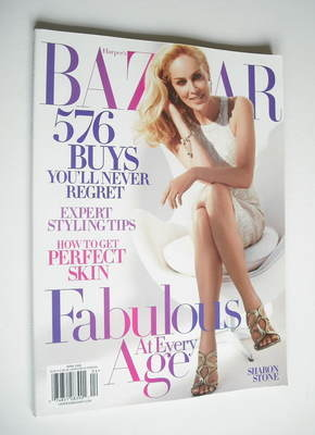 <!--2006-04-->Harper's Bazaar magazine - April 2006 - Sharon Stone cover