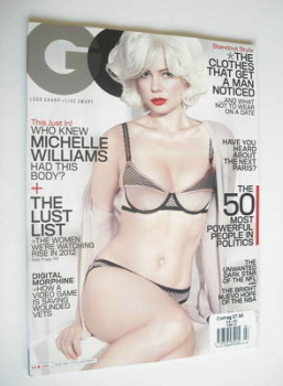 US GQ magazine - February 2012 - Michelle Williams cover