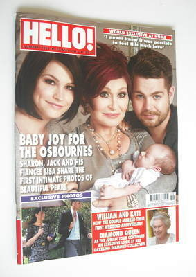 <!--2012-05-14-->Hello! magazine - Jack Osbourne, Lisa and Sharon cover (14