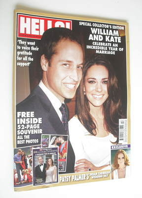 <!--2012-04-30-->Hello! magazine - Prince William and Kate Middleton cover