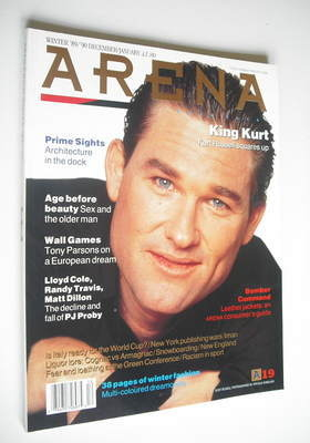 <!--1989-12-->Arena magazine - Winter 1989/1990 - Kurt Russell cover