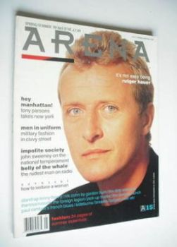 Arena magazine - Spring/Summer 1989 - Rutger Hauer cover