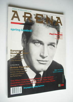 Arena magazine - Spring 1990 - Paul Newman cover