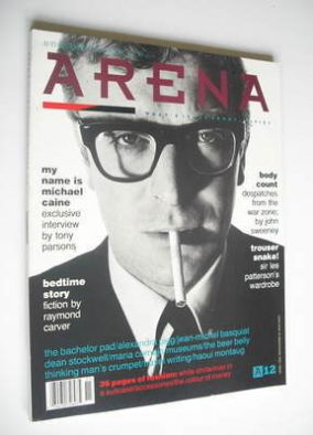 <!--1988-09-->Arena magazine - Autumn/Winter 1988 - Michael Caine cover