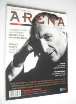 Arena magazine - Winter 1988/1989 - Richard Rogers cover
