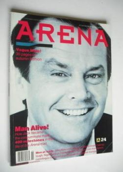 Arena magazine - Autumn/Winter 1990 - Jack Nicholson cover
