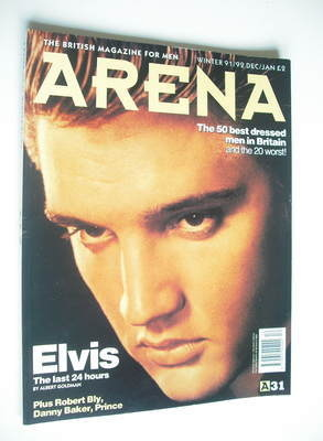 <!--1991-12-->Arena magazine - Winter 1991/1992 - Elvis Presley cover