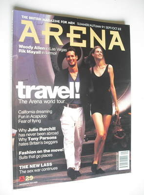 <!--1991-08-->Arena magazine - Summer/Autumn 1991 - Travel cover