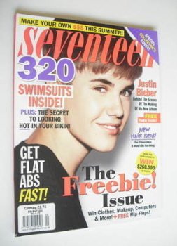 Seventeen magazine - May 2012 - Justin Bieber cover