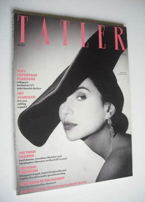 <!--1988-04-->Tatler magazine - April 1988 - Evgenia Citkovitz cover