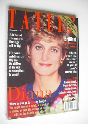 <!--1994-12-->Tatler magazine - December 1994 - Princess Diana cover