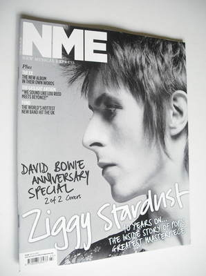 <!--2012-06-09-->NME magazine - David Bowie cover (9 June 2012) (Cover 2 of